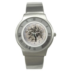 Snow Snowfall New Year S Day Stainless Steel Watch