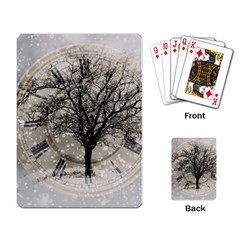 Snow Snowfall New Year S Day Playing Card