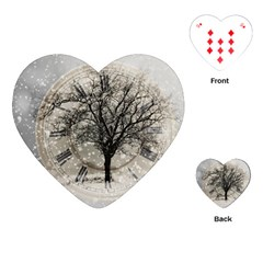 Snow Snowfall New Year S Day Playing Cards (heart)