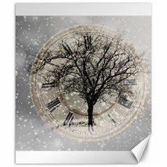 Snow Snowfall New Year S Day Canvas 20  X 24