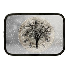 Snow Snowfall New Year S Day Netbook Case (medium)