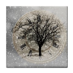 Snow Snowfall New Year S Day Face Towel