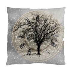 Snow Snowfall New Year S Day Standard Cushion Case (two Sides)