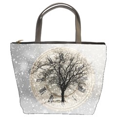 Snow Snowfall New Year S Day Bucket Bags
