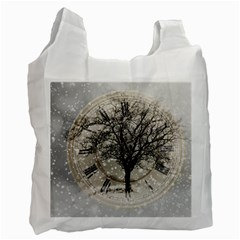 Snow Snowfall New Year S Day Recycle Bag (two Side)
