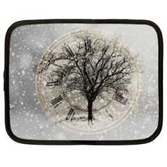 Snow Snowfall New Year S Day Netbook Case (xxl)