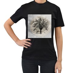 Snow Snowfall New Year S Day Women s T Shirt (black)