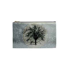 Snow Snowfall New Year S Day Cosmetic Bag (small)