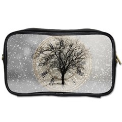 Snow Snowfall New Year S Day Toiletries Bags
