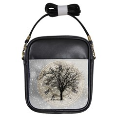 Snow Snowfall New Year S Day Girls Sling Bags