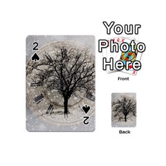 Snow Snowfall New Year S Day Playing Cards 54 (mini)