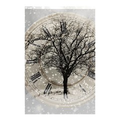 Snow Snowfall New Year S Day Shower Curtain 48  X 72  (small)
