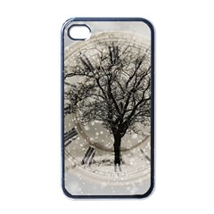Snow Snowfall New Year S Day Apple Iphone 4 Case (black)