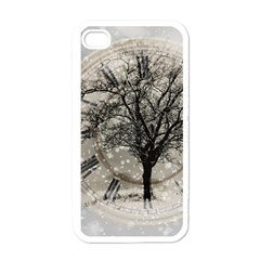 Snow Snowfall New Year S Day Apple Iphone 4 Case (white)