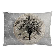 Snow Snowfall New Year S Day Pillow Case (two Sides)