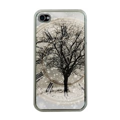 Snow Snowfall New Year S Day Apple Iphone 4 Case (clear)