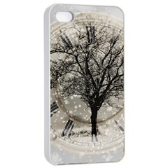 Snow Snowfall New Year S Day Apple Iphone 4/4s Seamless Case (white)