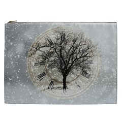 Snow Snowfall New Year S Day Cosmetic Bag (xxl)