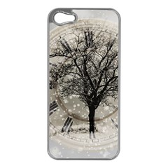 Snow Snowfall New Year S Day Apple Iphone 5 Case (silver)