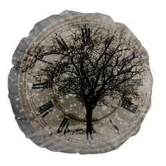 Snow Snowfall New Year S Day Large 18  Premium Round Cushions