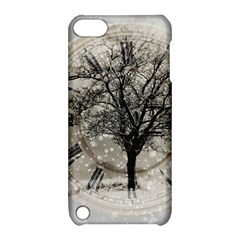 Snow Snowfall New Year S Day Apple Ipod Touch 5 Hardshell Case With Stand