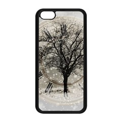Snow Snowfall New Year S Day Apple Iphone 5c Seamless Case (black)