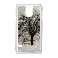 Snow Snowfall New Year S Day Samsung Galaxy S5 Case (white)