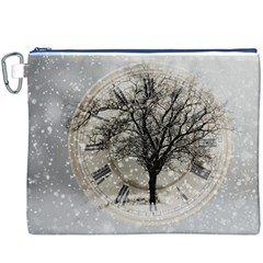 Snow Snowfall New Year S Day Canvas Cosmetic Bag (xxxl)