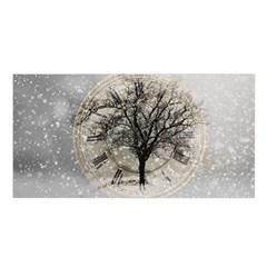 Snow Snowfall New Year S Day Satin Shawl
