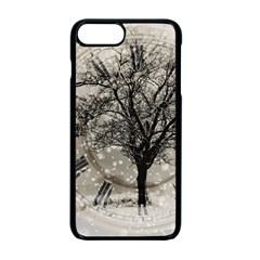 Snow Snowfall New Year S Day Apple Iphone 7 Plus Seamless Case (black)