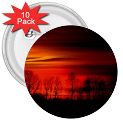 Tree Series Sun Orange Sunset 3  Buttons (10 Pack)