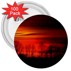 Tree Series Sun Orange Sunset 3  Buttons (100 Pack)