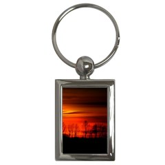 Tree Series Sun Orange Sunset Key Chains (rectangle)