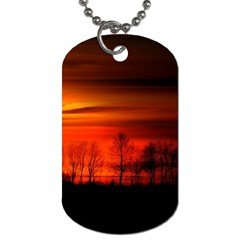 Tree Series Sun Orange Sunset Dog Tag (one Side)