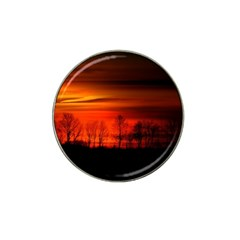 Tree Series Sun Orange Sunset Hat Clip Ball Marker