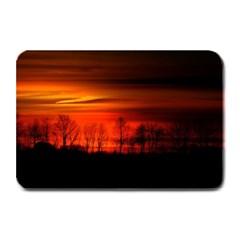 Tree Series Sun Orange Sunset Plate Mats