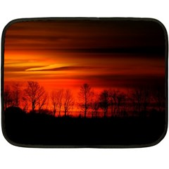Tree Series Sun Orange Sunset Fleece Blanket (mini)