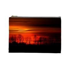 Tree Series Sun Orange Sunset Cosmetic Bag (large)