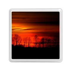 Tree Series Sun Orange Sunset Memory Card Reader (square)