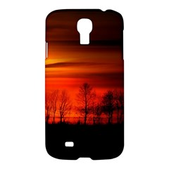 Tree Series Sun Orange Sunset Samsung Galaxy S4 I9500/i9505 Hardshell Case