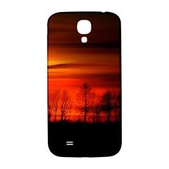 Tree Series Sun Orange Sunset Samsung Galaxy S4 I9500/i9505  Hardshell Back Case