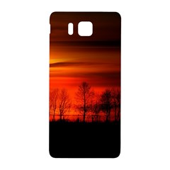 Tree Series Sun Orange Sunset Samsung Galaxy Alpha Hardshell Back Case