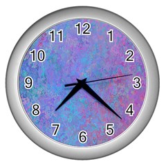 Background Texture Pattern Wall Clocks (silver)
