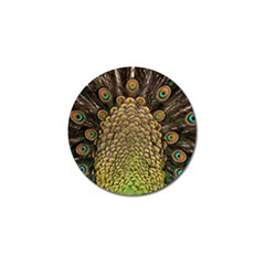 Peacock Feathers Wheel Plumage Golf Ball Marker (4 Pack)