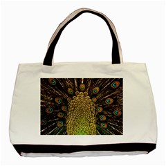 Peacock Feathers Wheel Plumage Basic Tote Bag