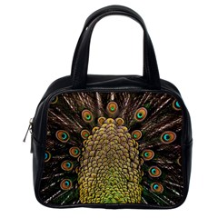Peacock Feathers Wheel Plumage Classic Handbags (one Side)