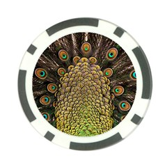 Peacock Feathers Wheel Plumage Poker Chip Card Guard (10 Pack)