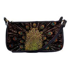 Peacock Feathers Wheel Plumage Shoulder Clutch Bags