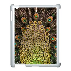 Peacock Feathers Wheel Plumage Apple Ipad 3/4 Case (white)