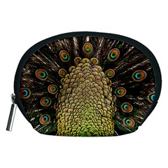 Peacock Feathers Wheel Plumage Accessory Pouches (medium)